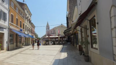 Les rues de la vieille ville de Porec