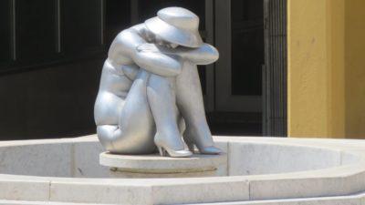 Statue étonnante dans les rues de Porec