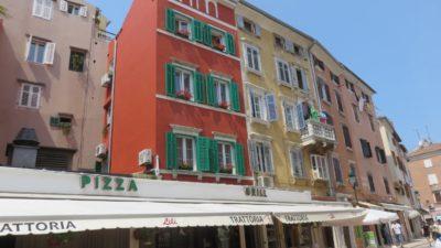 Les habitations colorées de Rovinj