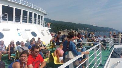 Sur le ferry entre Brestova et l'île de Cres
