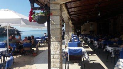 Les terrasses du port de Veli Losinj