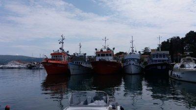 Le port de pêche de Krk (Croatie)