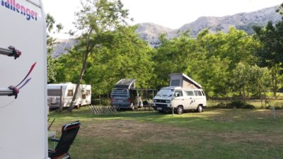 Au camping Zablace d Baska (Croatie)