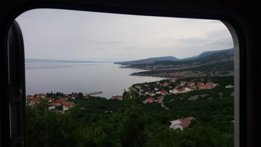 Jolie vue sur Klenovica (Croatie)