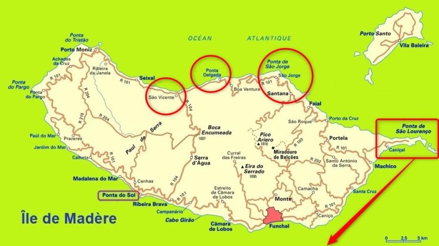 Ponta de Sao Lourenço - Santana - Ponta Delgada - Arco Sao Jorge - Sao Vicente