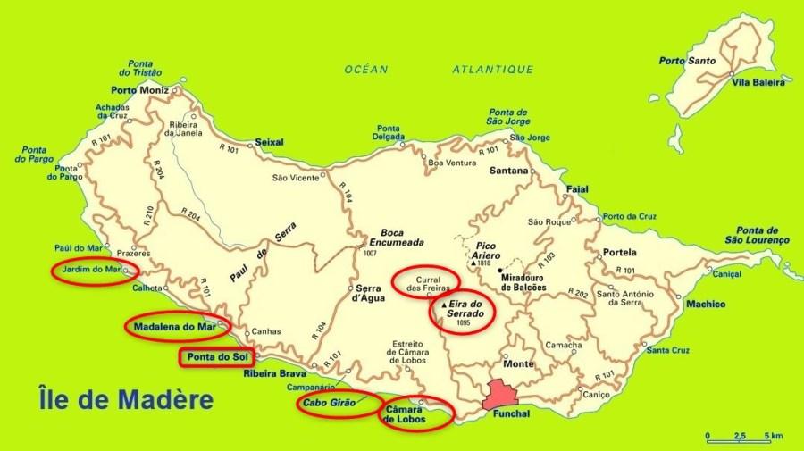 Cabo de Girao - Camara de Lobos - Miradore da Torre - Eira do Serrado - Ponta Do Sol - Calheta - Jardim Do Mar
