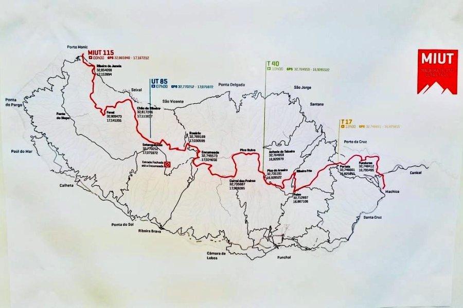 Circuit du MIUT (Madeira Island Ultra Trail)