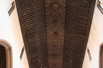 Le plafond en bois sculpté de la cathédrale de Funchal - Madère
