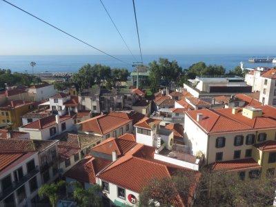 Vue sur Funchal depuis le téléphérique