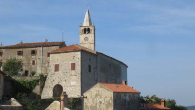Le village de Labin (Croatie)