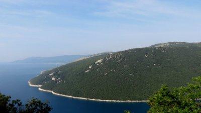 La côte adriatique entre Rabac et Brestova