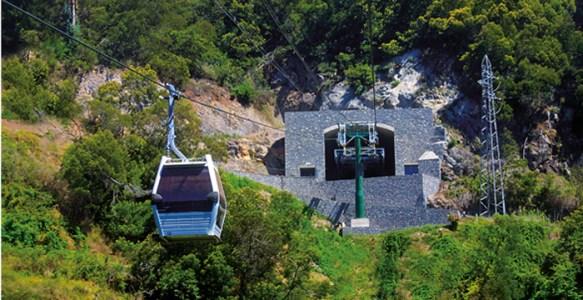Le téléphérique du jardin botanique de Funchal - Madère