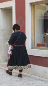 Croate en costume folklorique à Zadar