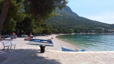 La plage de Zaostrog - Croatie