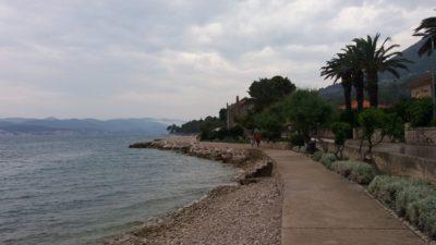 Le bord de mer d'Orebic - Croatie