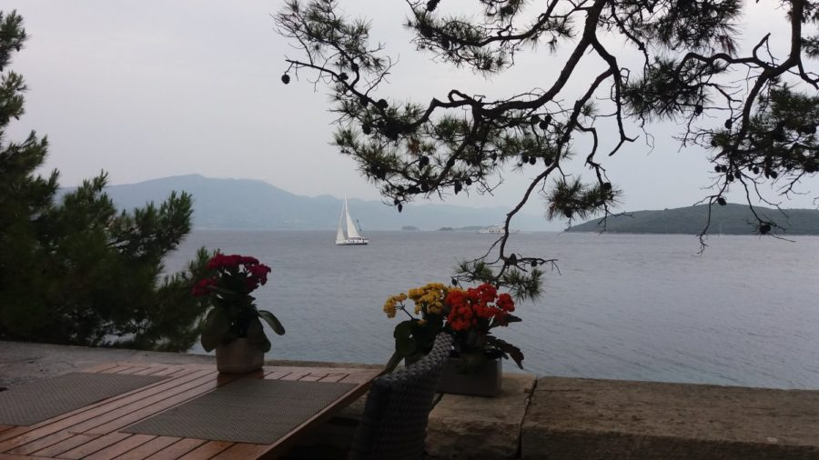 Vue sur la mer depuis Korcula - Croatie