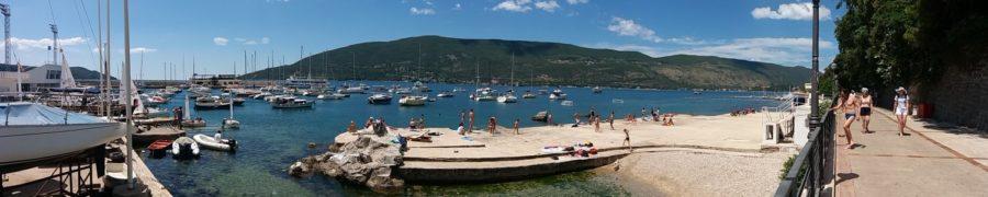 Le port et la plage d'Herceg Novi - Monténégro