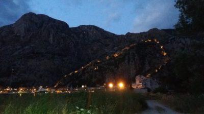 La muraille de Kotor de nuit - Monténégro