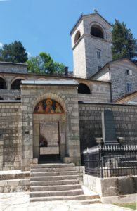 L'entrée du monastère orthodoxe de Cetinje - Monténégro