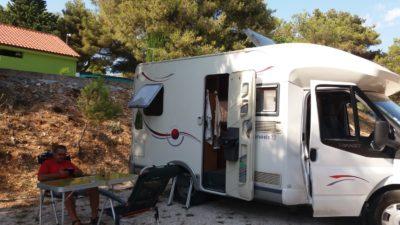 Au camping Belvédère de Seget Vranjica