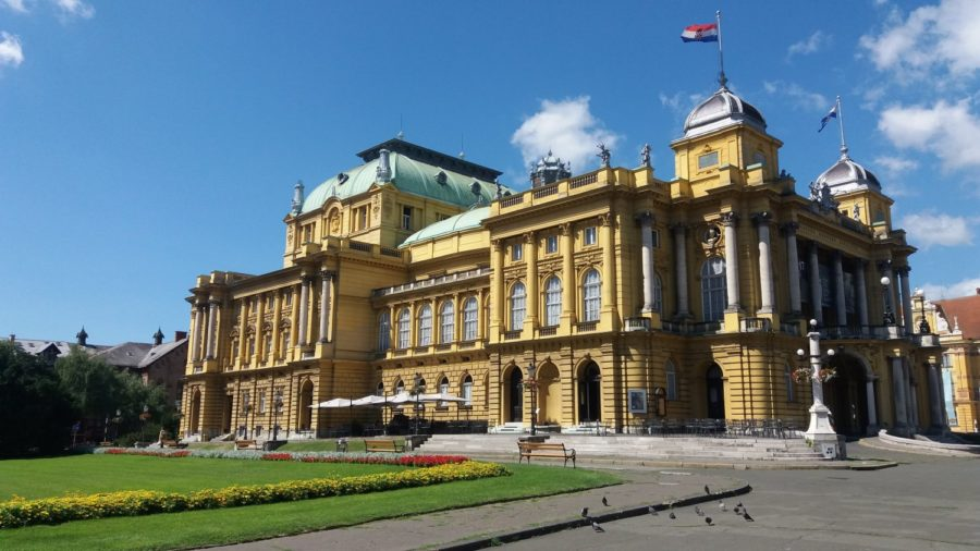 Le théâtre national croate - Zagreb