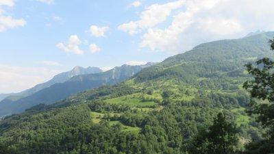 Paysage de montagne entre Kolasin et Zabljak - Monténégro