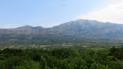 Paysage autour de la baie de Kotor (Monténégro)