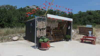 Vente d'ail et de produits locaux - Croatie
