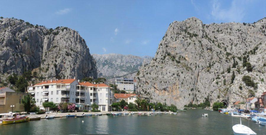 La ville d'Omis - Croatie