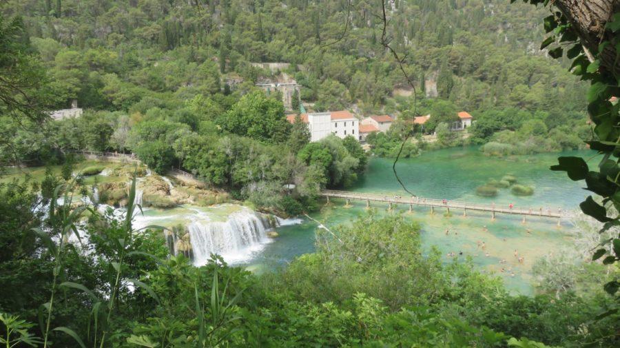 Les cascades et la piscine naturelle du parc de Krka - Croatie