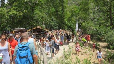 La foule au parc de Krka - Croatie