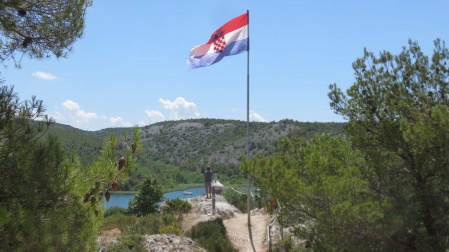 Vue depuis la forteresse de Skradin - Croatie