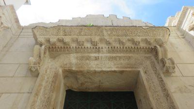 Porte ciselée du Baptistère St John - Split