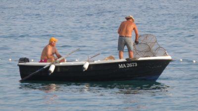 Pêcheurs dans le petit port de Zaostrog - Croatie