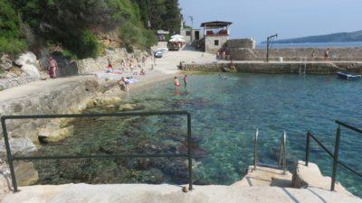 La plage du camping Maslinom d'Orasac - Croatie