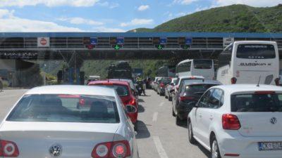 La frontière du Monténégro