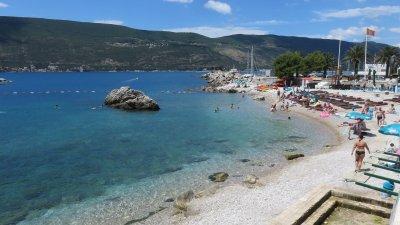 La plage d'Herceg Novi - Monténégro