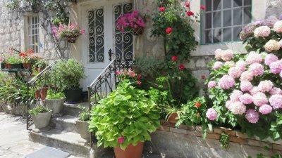 Maison fleurie à Perast - Monténégro