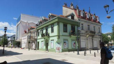Maisons colorées du centre ville de Cetinje - Monténégro