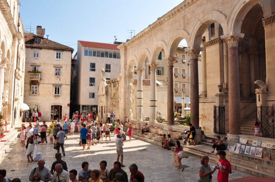 Les colonnes du palais de Dioclétien - Split