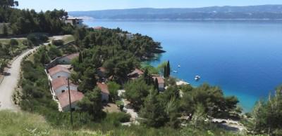 Vue sur mer depuis la route entre Brela et Makarska