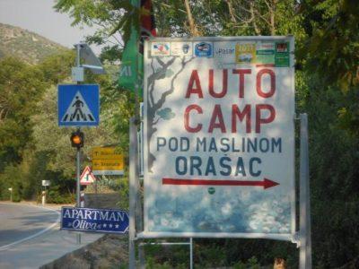 Le camping Pod Maslinom d'Orasac - Croatie