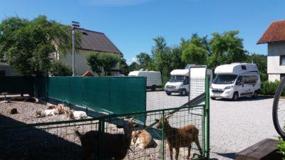 L'aire de camping-car de Dobrunje (Camperstop Ljubljana Pri Kovacu) près de Ljubljana - Slovénie
