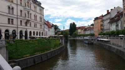 Le canal de Ljubljana -Slovénie