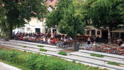 Promenade le long du canal de Ljubljana - Slovénie
