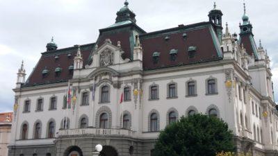 Le siège de l'université de Ljubljana - Slovénie