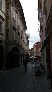 Dans les ruelles pavées de la vieille ville - Ljubljana