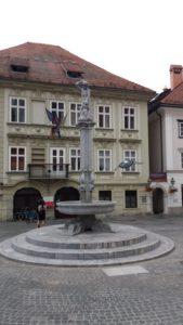 Petite place du vieux centre de Ljubljana - Slovénie