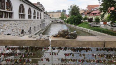 Le pont des Bouchers ou pont des amoureux - Ljubljana