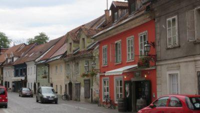 Jolies maisons colorées de Ljubljana